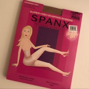 NEW SPANX Nude Size C Super-High Shaping Stockings